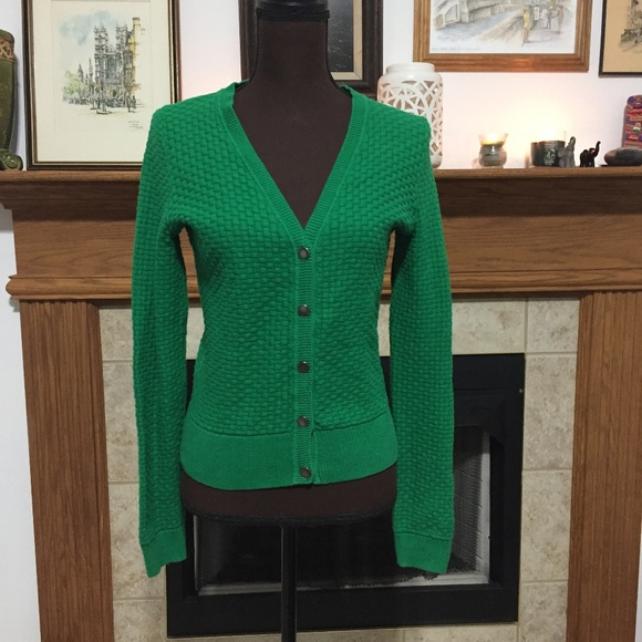 Liz Claiborne Sweaters Womens Green Cable Knit Sweater Poshmark